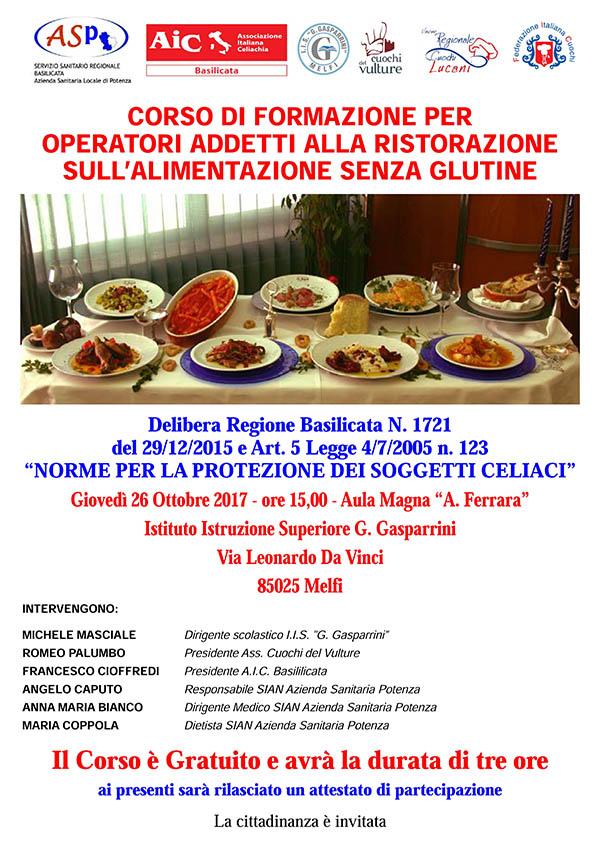 Melfi l 39 alberghiero organizza un corso gratuito sulla - Corso di cucina potenza ...
